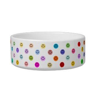 Rainbow Multicolor Smiley Face Bowl