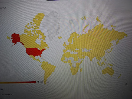 My Blog Map of The World
