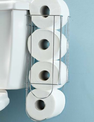 Chrome Plated Metal Side Of Tank Toilet Paper Holder 5 Fluon