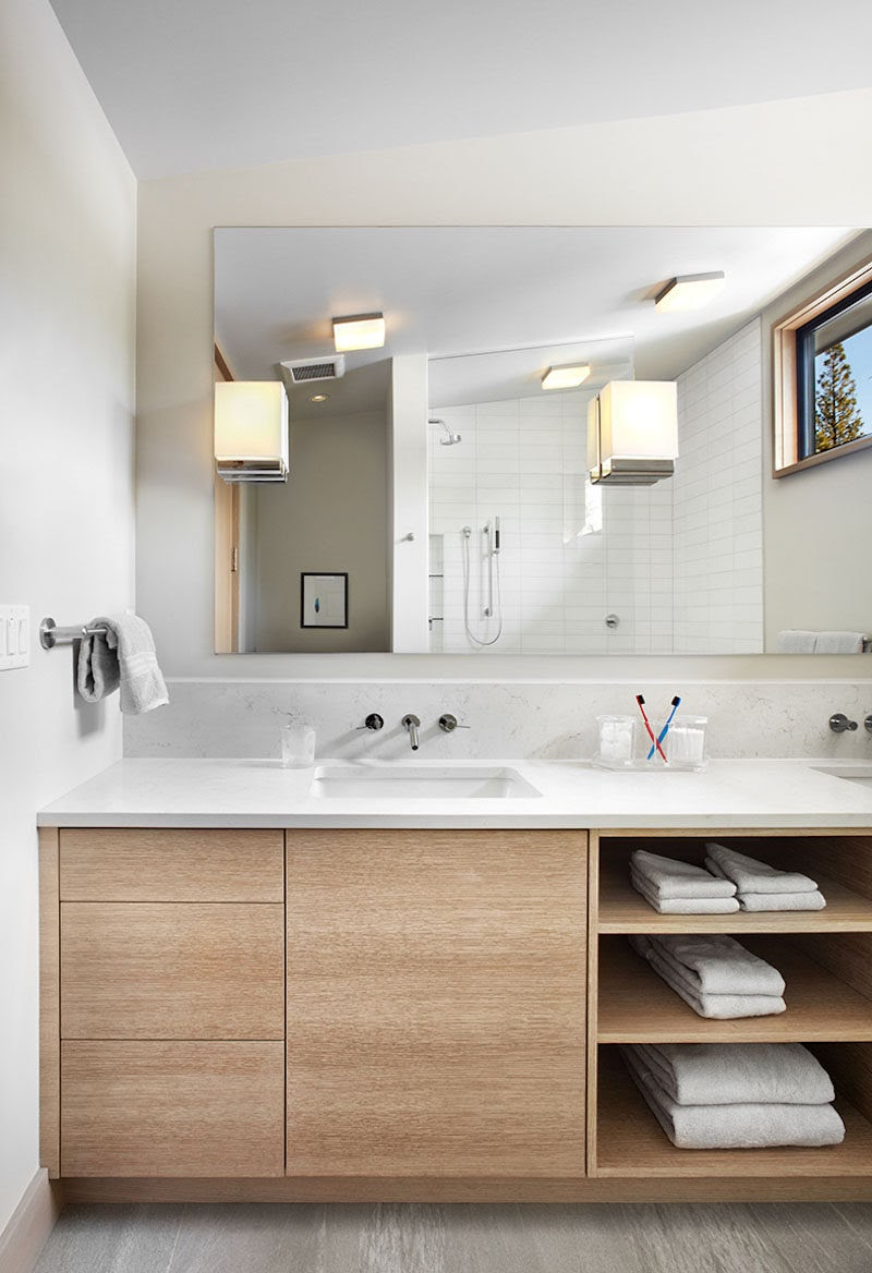 Awesome Bathroom Open Shelf Cabinet images