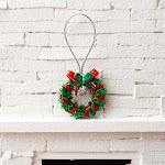Dollhouse Miniature Green Christmas Wreath, 1'' diameter, Craft Supplies, Doll Making Supplies