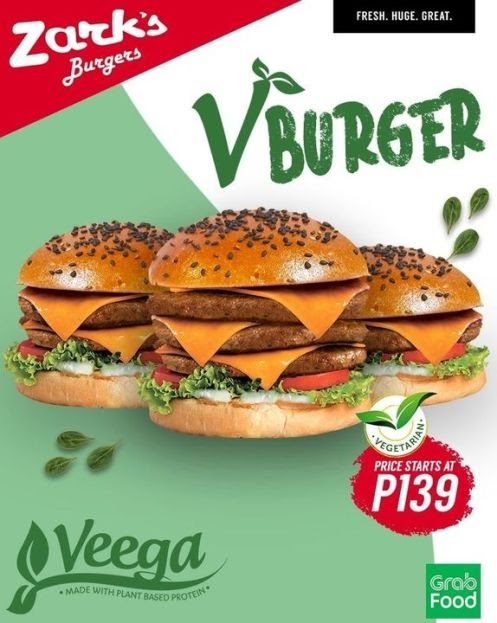 Introducing Zark's Burgers V Burger: Made from the first locally-made plant-based Veega Meat-Free