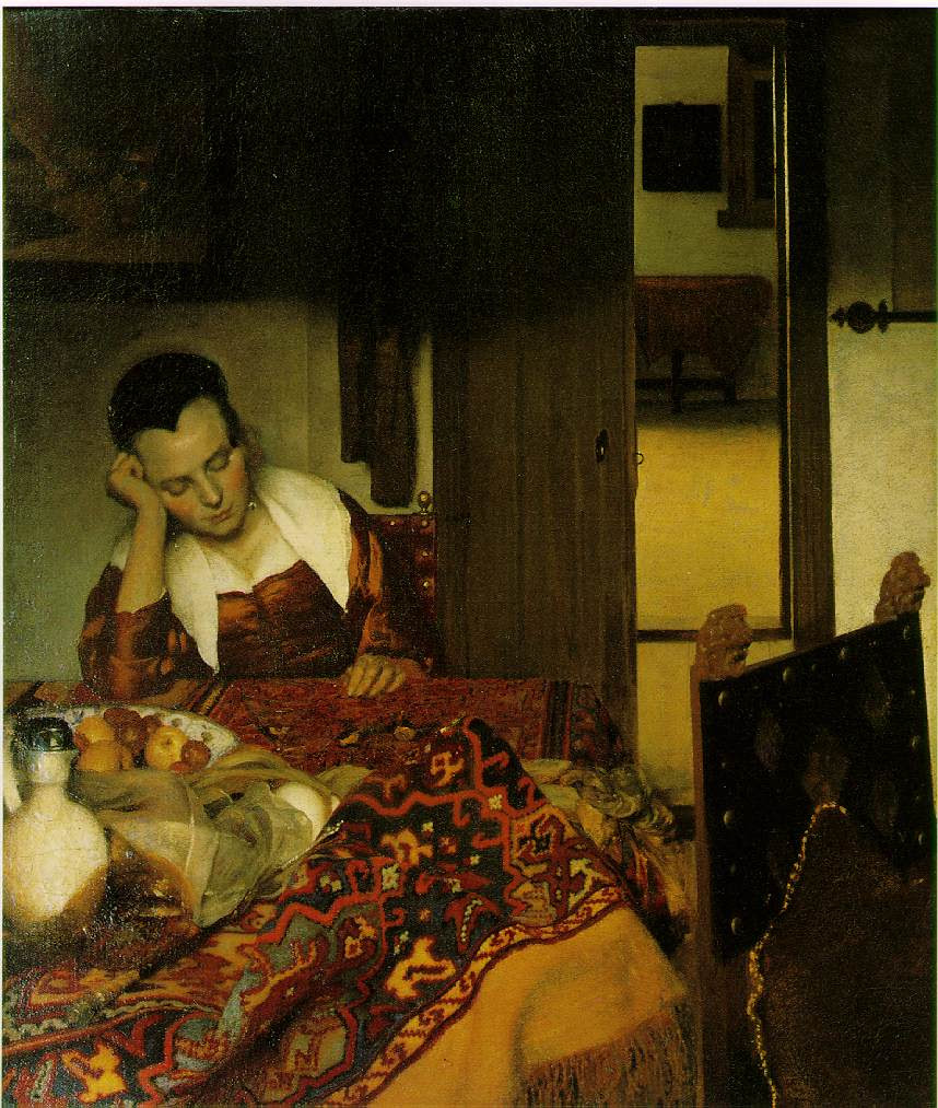 Joven durmiendo.  Jan Vermeer.