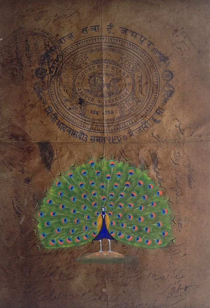 Peacock Painting by Jaipur Artisan photo 2015-05-22 08.29.31_zps8bx7l48t.jpg