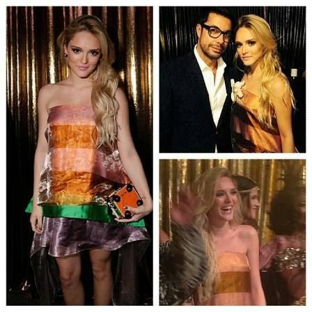 Fernando Torquatto e Isabelle Drummond no Baile da Vogue