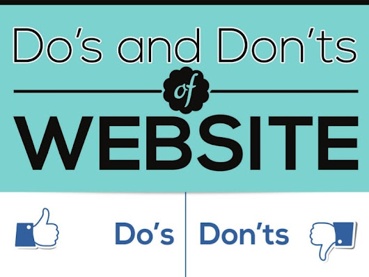 [Infographic] Do's and Don'ts of a website