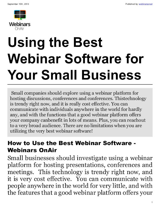 Best webinar software