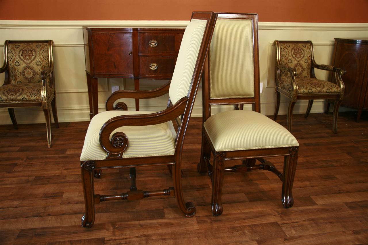 Mahogany Dining Chairs, Upholstered Dining Chairs
