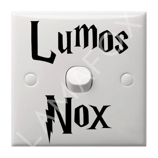 Lumos Nox Light Switch Decal Sticker by Lamafox on Etsy