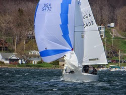J/24 sailing J-Daze regatta in New York