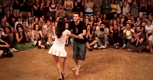 He GRABBED Her Onto The Dance Floor. But Watch Closely What She Does Next… Whoa!
