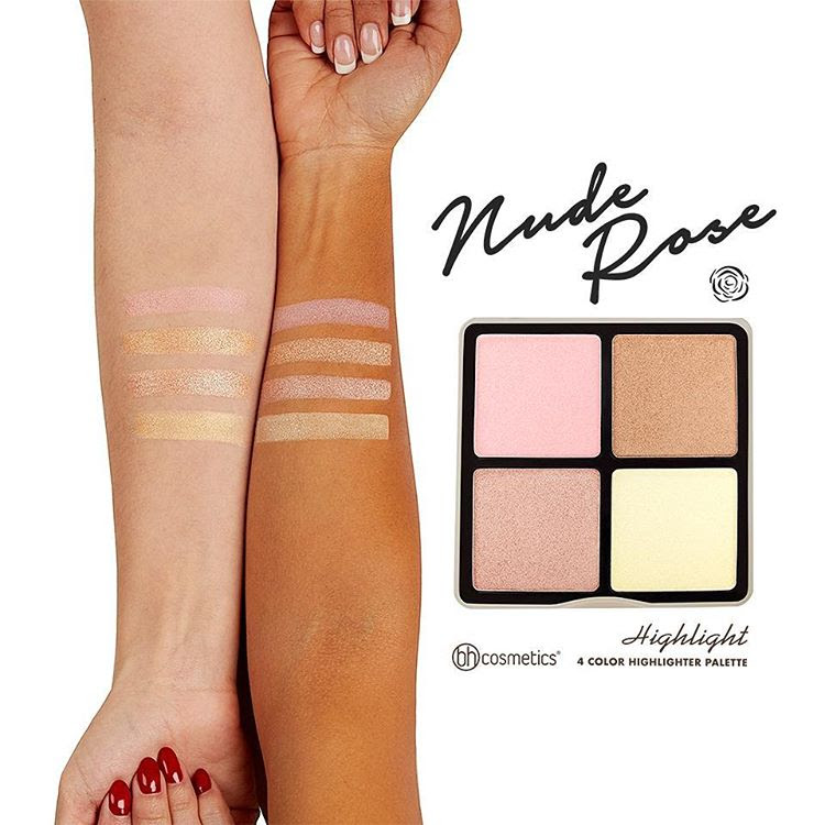 BH Cosmetics Nude Rose Highlight Swatches