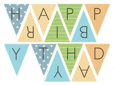 Free Printable Happy Birthday Banner   Birthdays, Happy and School ...