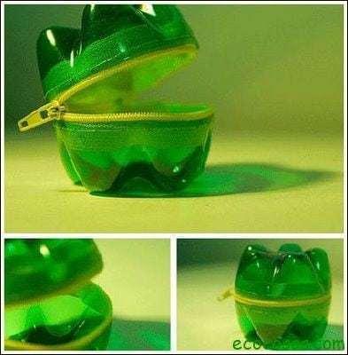 monedero reciclado Ideas para reciclar botellas de plástico