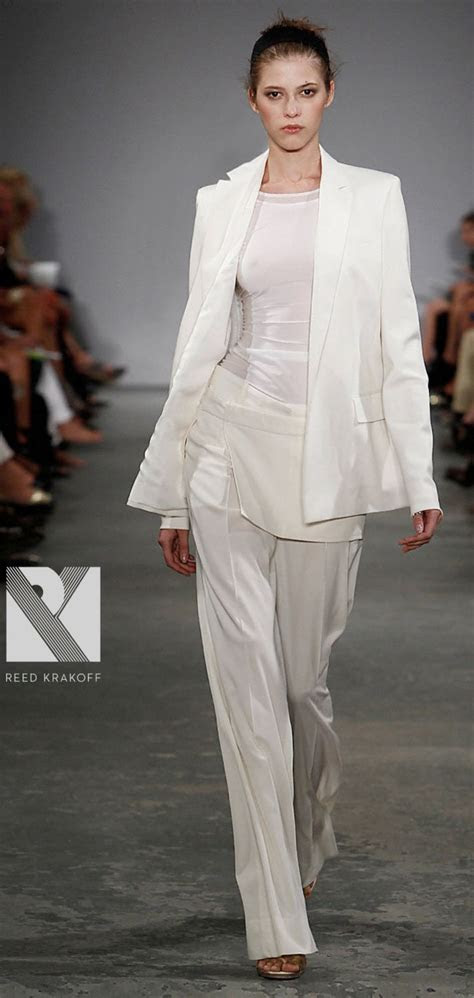 bridal trend  white tailored suit