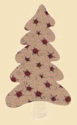 Padrão de árvore de Natal para applique