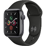 Apple Watch Series 5   - 44mm - GPS - Space Gray Aluminum Case - Black Sport Band