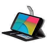 【MiniSuit】Google Nexus 5 良質PUレザー カードホルダー付きスタンドスタイル ケース カバー【日本正規輸入代理店品】 ブラック