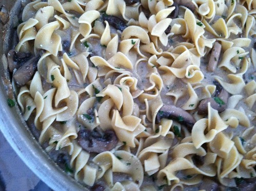 Mushrooms Stroganoff Skillet