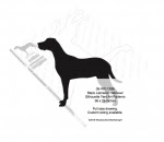 Black Labrador Retriever Silhouette Yard Art Woodworking Pattern - fee plans from WoodworkersWorkshop® Online Store - dogs,pets,animals,Labrador Retrievers,yard art,painting wood crafts,scrollsawing patterns,drawings,plywood,plywoodworking plans,woodworkers projects,workshop blueprints