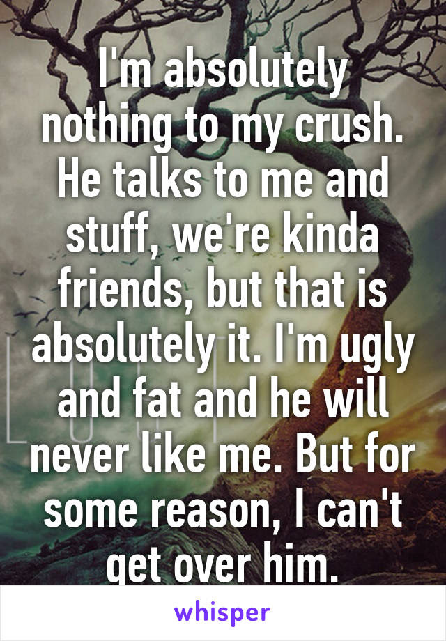 Im Absolutely Nothing To My Crush He Talks To Me And Stuff Were