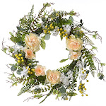 Yellow and Green Spring Flower Artificial Wreath - 20-Inch, Unlit by Christmas Central