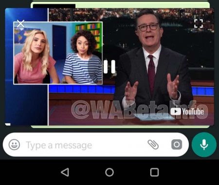 WhatsApp bald mit Bild-in-Bild Video Funktion in der Android Version?