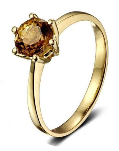 1 Carat Solitaire Yellow Sapphire Engagement Ring in