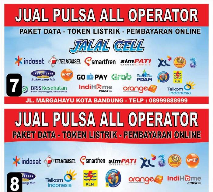 Gambar Spanduk Pulsa All Operator - kumpulan contoh spanduk