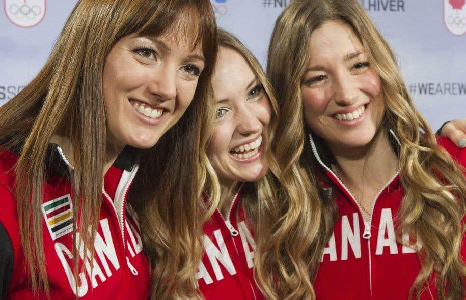 Maxime, Chloé et Justine Dufour-Lapointe, en 2014, l'année des Jeux de Sotchi
