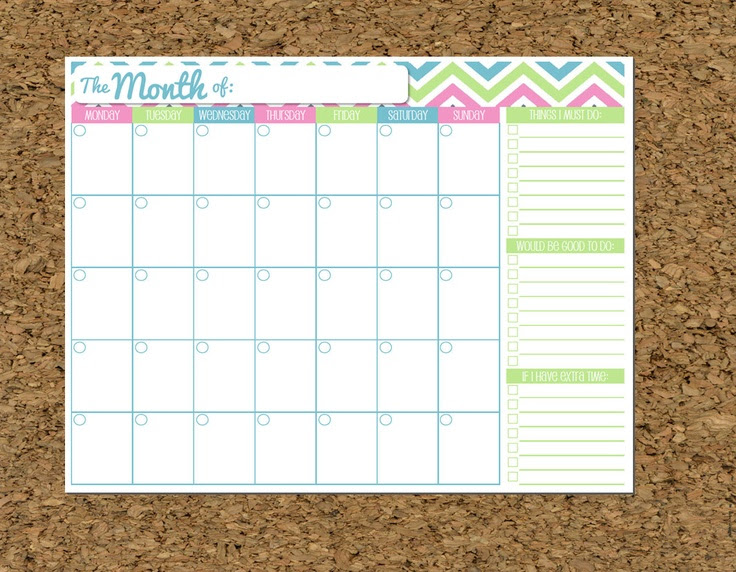 INSTANT DOWNLOAD To Do List and Calendar Set Brights-Home Organization Printables-PDF Printables-8 Documents. $10.00, via Etsy.
