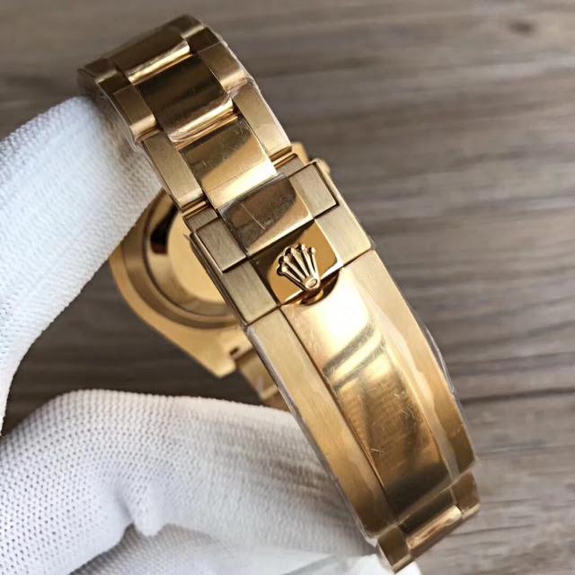 VR Full Gold Rolex Submariner Bracelet
