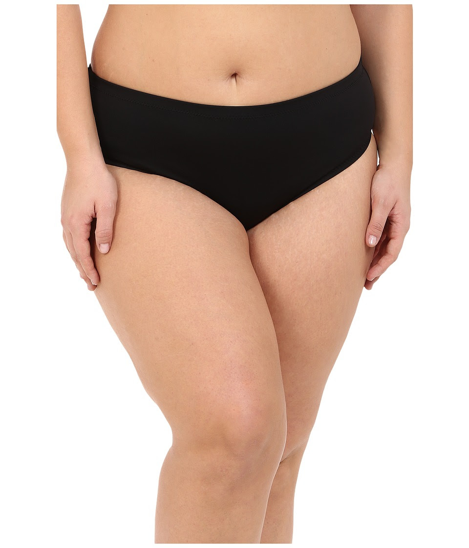 BECCA by Rebecca Virtue - Plus Size Becca ETC Caravan Solid Full Pants (Black) Women's Swimwear
