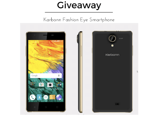 December Giveaway: Karbonn Fashion Eye Smartphone