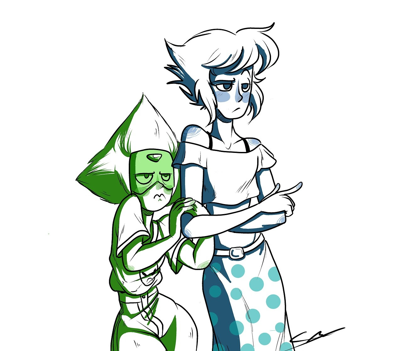 I love it when peri does the little thing where she just like, touches lapis' arm aaaaaaaaa