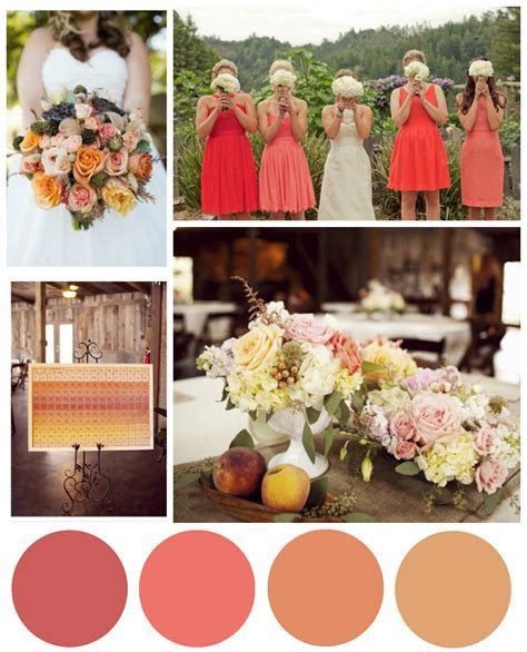 Coral & Salmon Wedding Color Inspiration   Rustic Wedding Chic