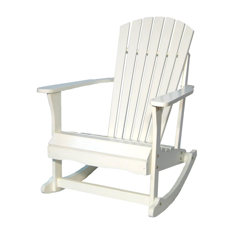 Shop International Concepts White Acacia Patio Rocking ...
