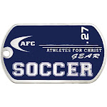 Soccer Stainless Steel-Blue Dog Tag Necklace-Phil 4:13
