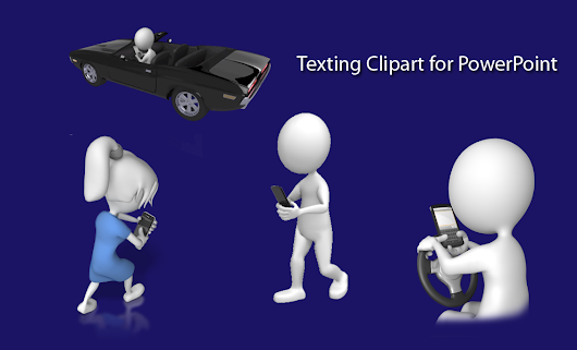 3D Stick Texting Figures For PowerPoint