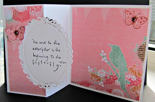 Z-fold card opened