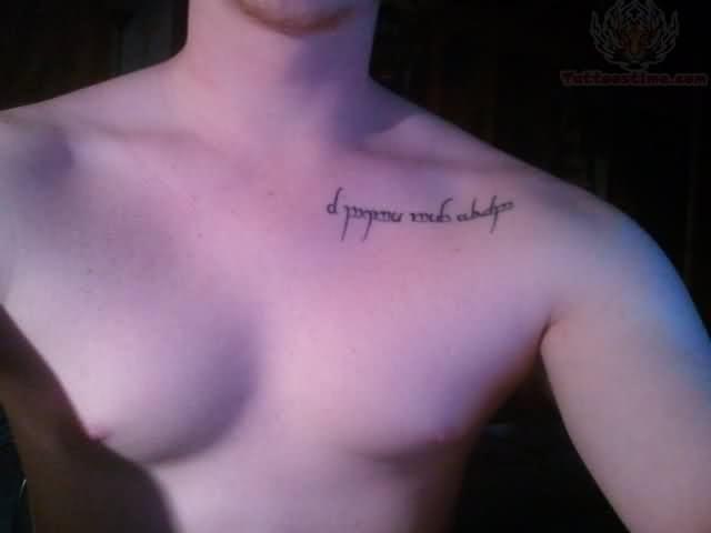 Collarbone Tattoo For Men