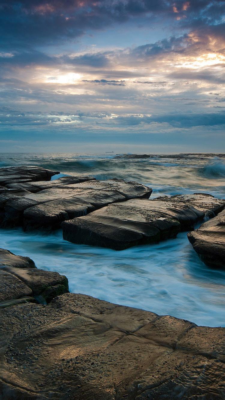 750x1334 Seascape Ocean Rocks iPhone 6, iPhone 6S, iPhone ...