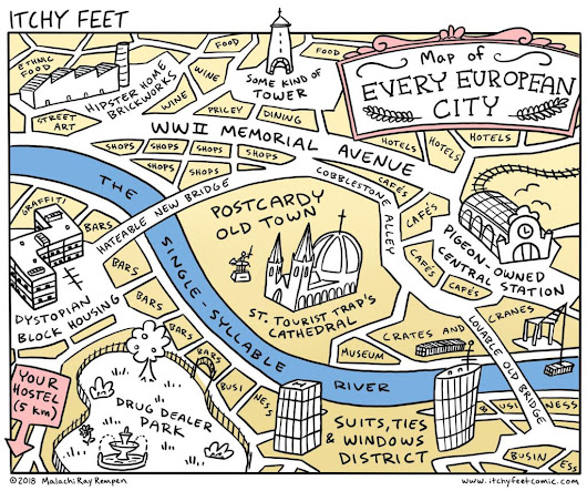 Itchy Feet's Map of Every European City