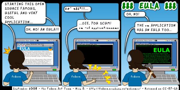 [fedora webcomic: eula]