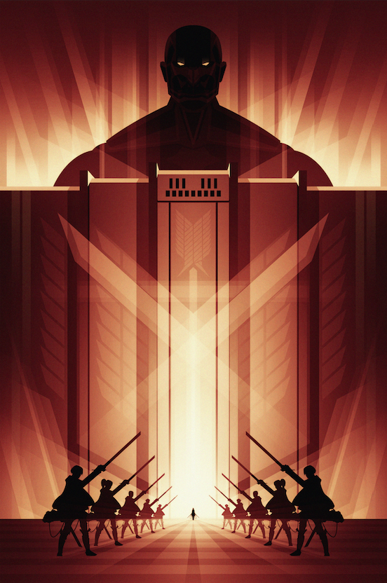 Attack on Titan Poster by Ron Guyatt