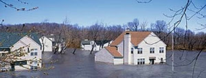 Photo: Flooded houses