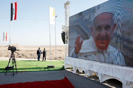 In a 'blessed place,' Francis urges respect for common humanity.