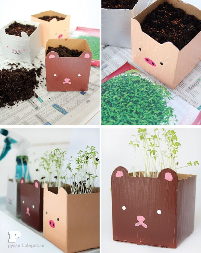 DIY: Milk carton planters by Pysselbolaget