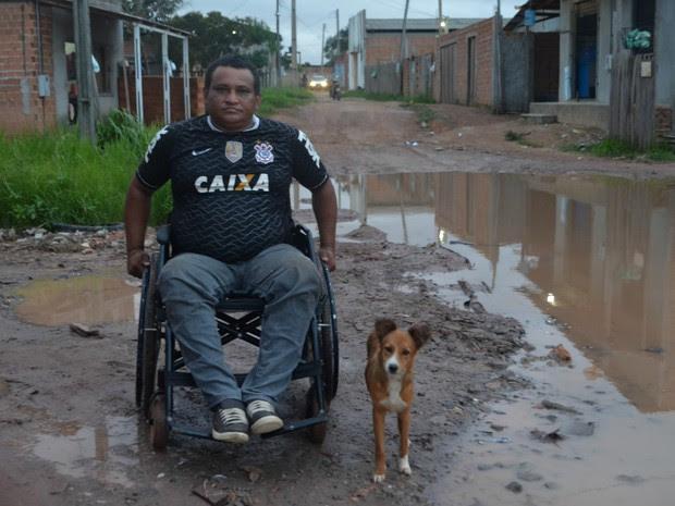 Cadeirante, falta de acessibilidade, Macapá, Amapá (Foto: Jorge Abreu/G1)
