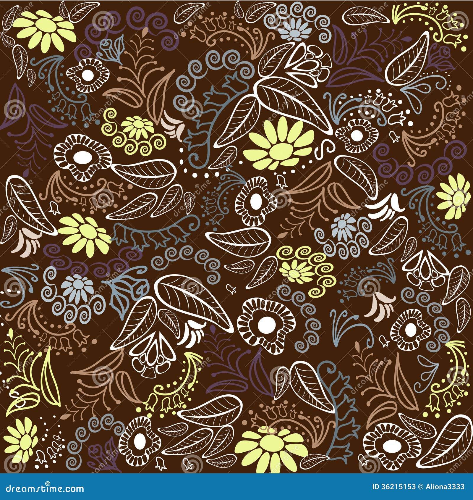 Brown Flower Pattern Stock Photos - Image: 36215153
